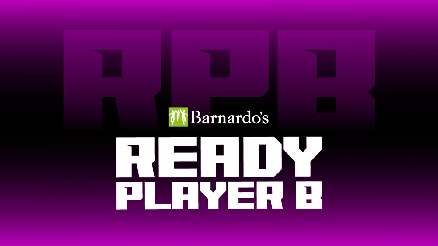 purple banner that says 'ready player b'
