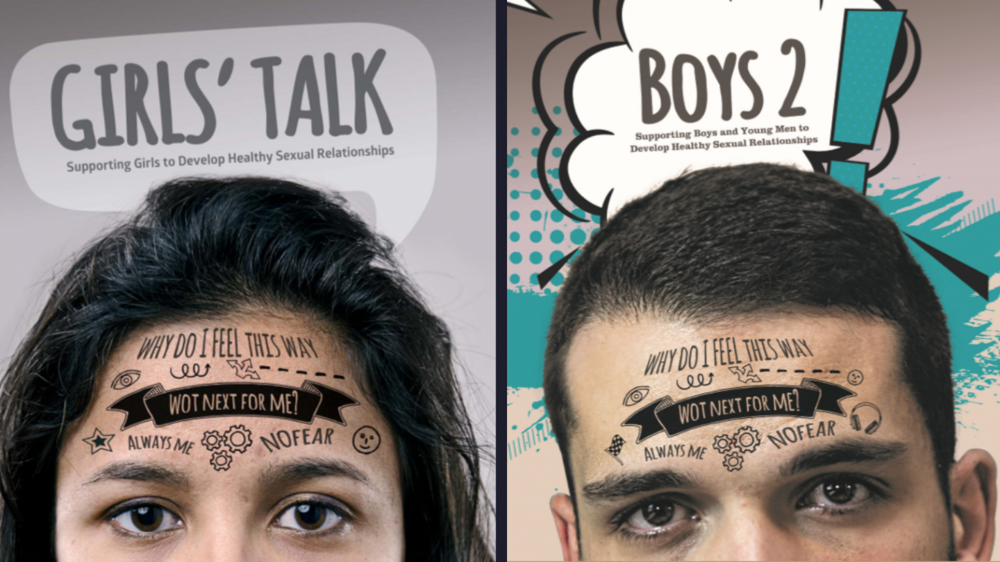 Artwork cover for 2 resources used to help young people who have been sexually abused