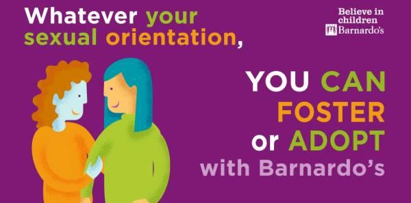 Whatever your sexual orientation, you can foster or adopt with Barnardo's