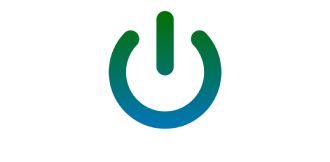 Icon of a power button on computer