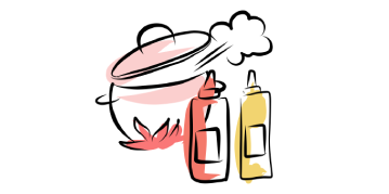 Icon of a saucepan