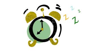 Icon of an alarm clock