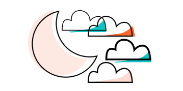 Icon of the moon and clouds