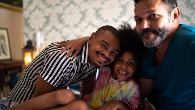 LGBT foster parents and foster child