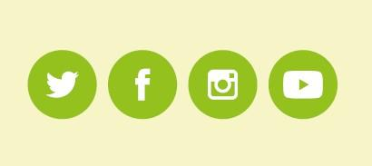 Social media icons graphic