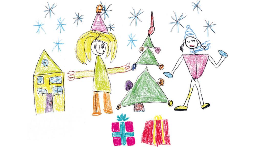 Child's Christmas illustration