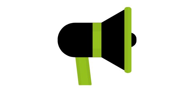 Logo of a loud speaker