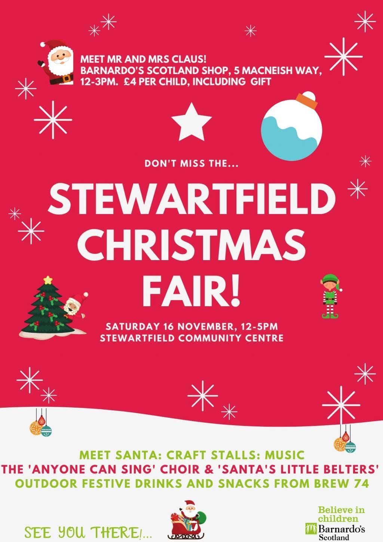 Poster for the Stewartfield Christmas Fair