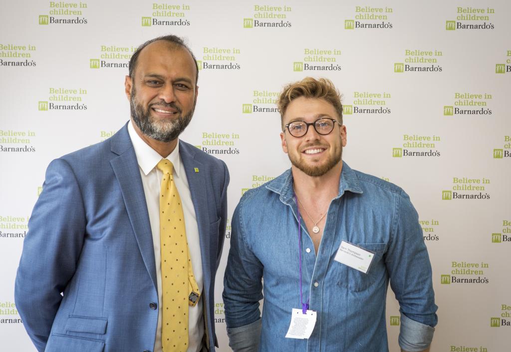 Barnardo's CEO Javed Khan and Sam Thompson