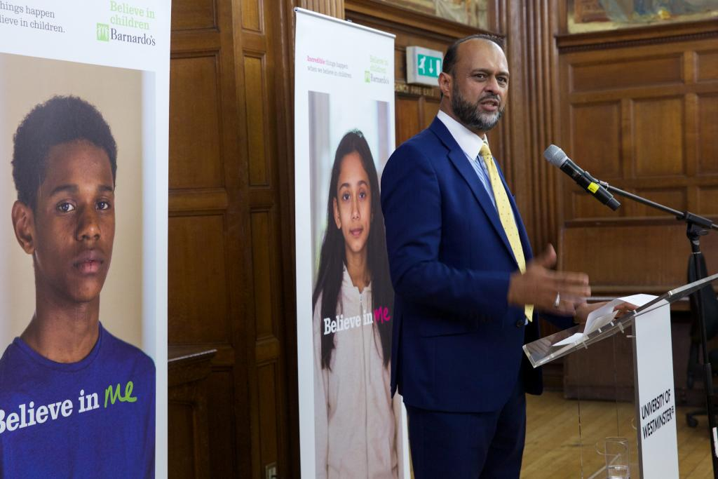Barnardo's Chief Executive Javed Khan speaks passionately at Black History Month event and exhibition