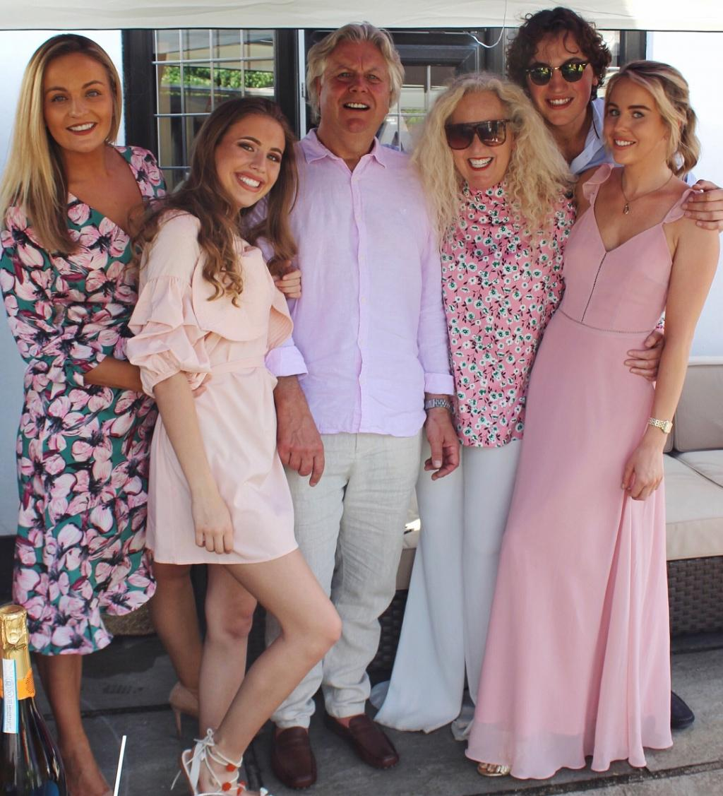 Lydia Bright, her mum Debbie Douglas and her dad, brother and sisters