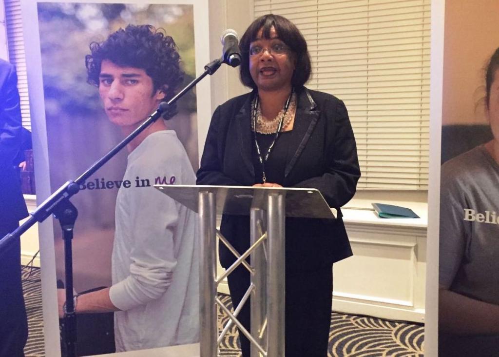 Diane Abbott at Barnardo's conference