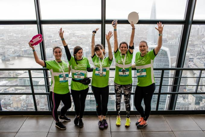 Team who reached the top of the Cheesegrater skyscraper on the 2018 Urban Summit event