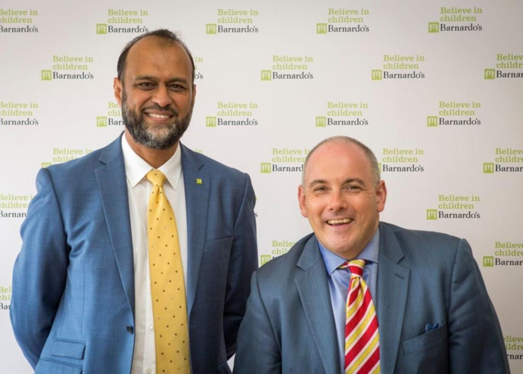 Javed Khan, CEO of Barnardo's with Right Honorable Robert Halfon MP