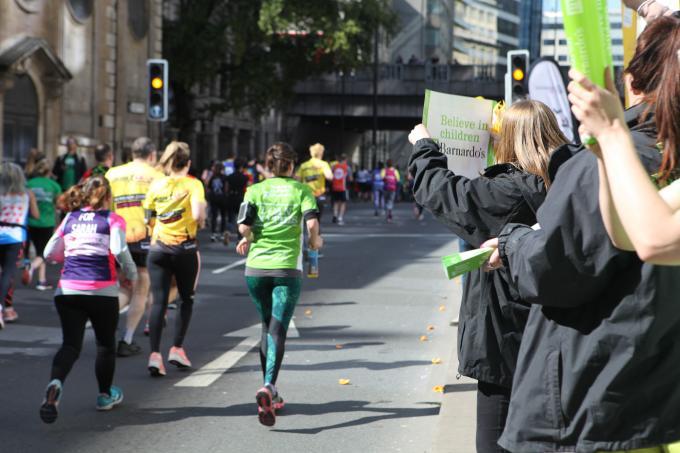 Marathon runner finishing the race