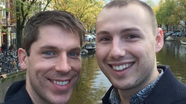 Nick and Adam, who have adopted through Barnardo's