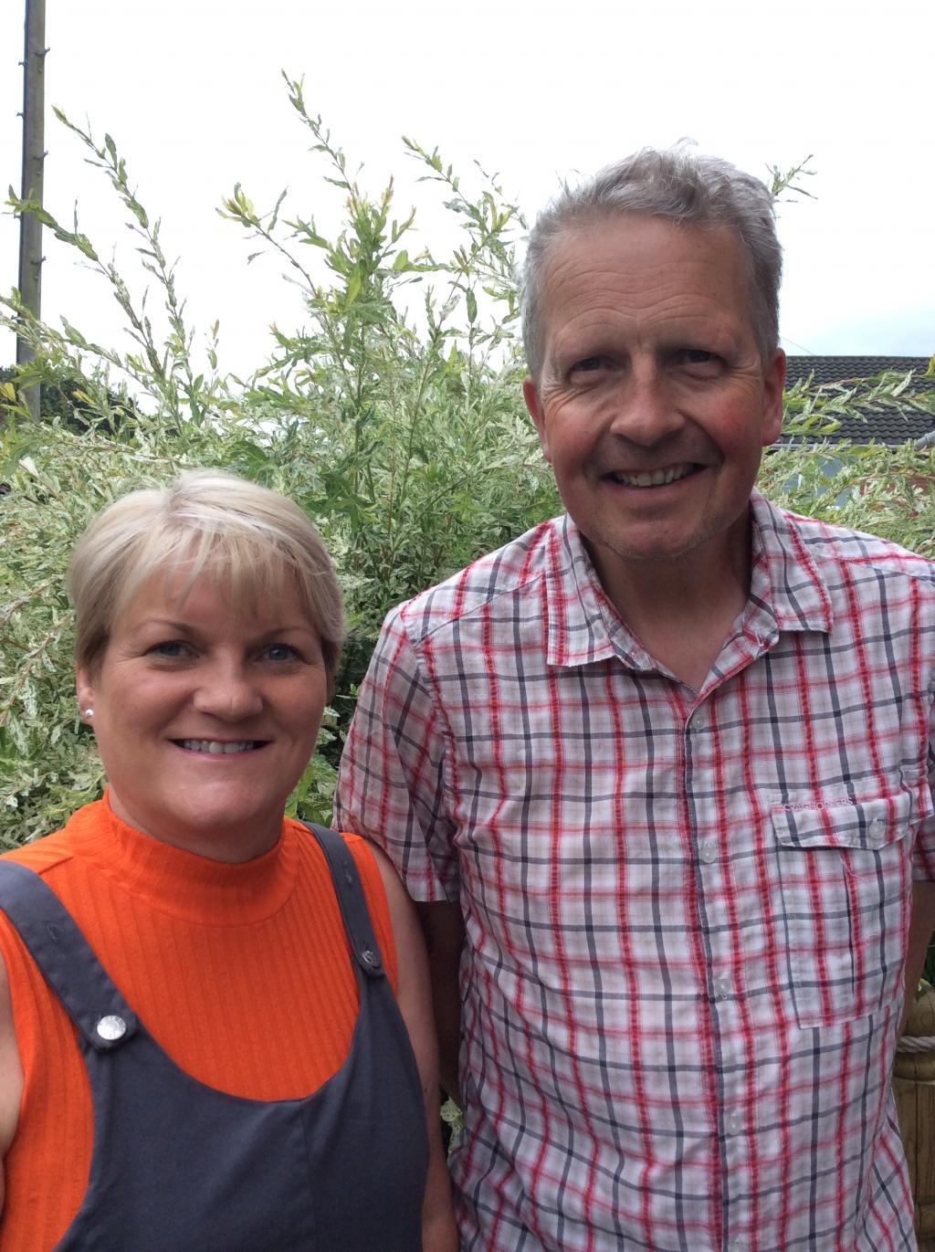 Sandra and Simon, foster carers