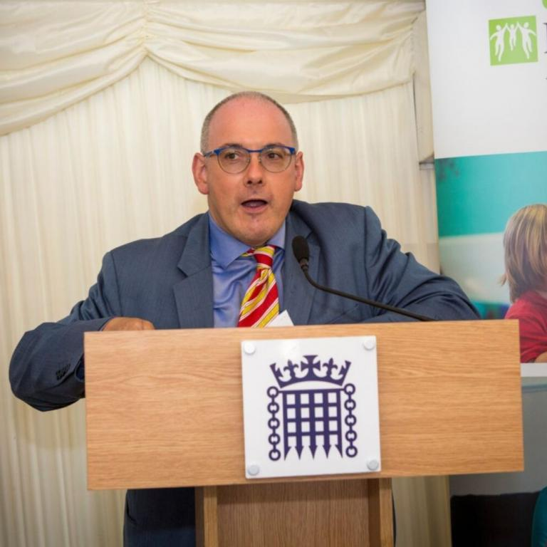 Robert Halfon speaking at our annual parliamentary reception