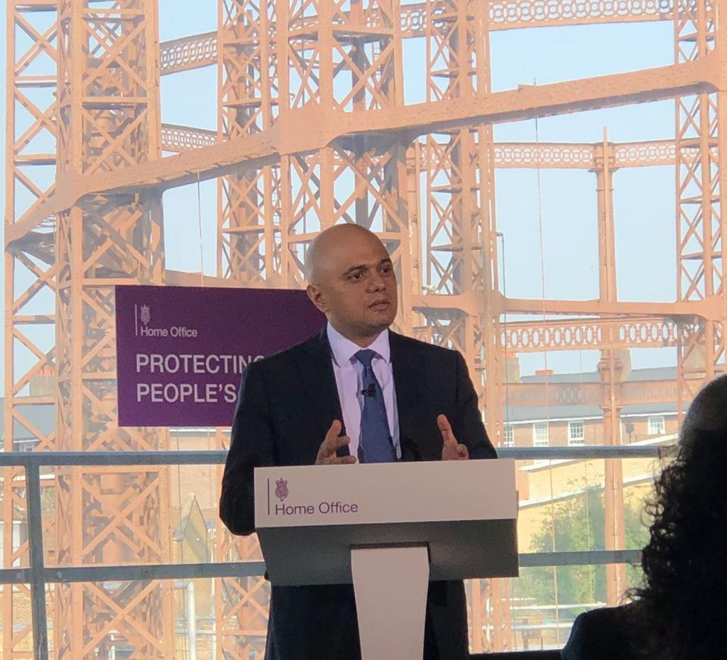 Home Secretary Sajid Javid outlined the Government's plan to tackle serious violence