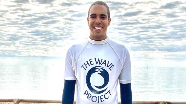 Photo of Scott Roberts volunteering with the Wave Project in Brighton