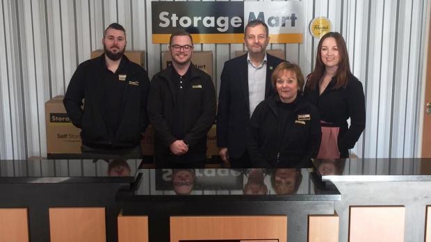 Storage Mart and Barnardo's staff