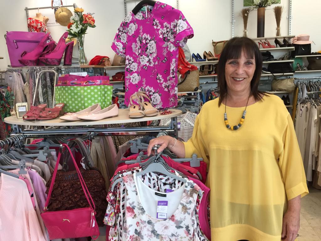 Sue Langford, manager of Barnardo's Cymru Ammanford store