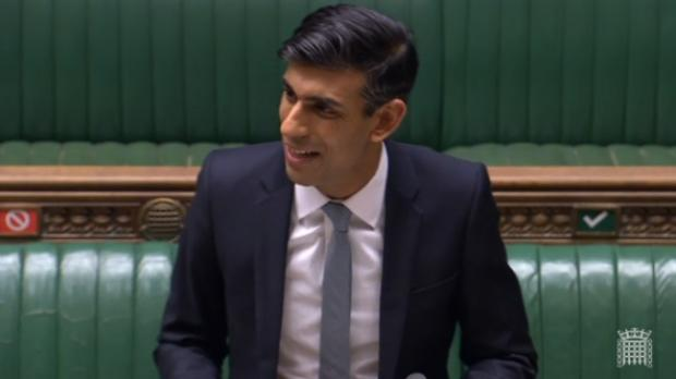 Chancellor Rishi Sunak announced a mini-Budget in the House of Commons. Picture from Parliamentlive.tv