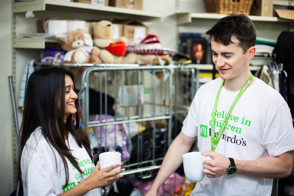 Volunteers in a Barnardo's shop