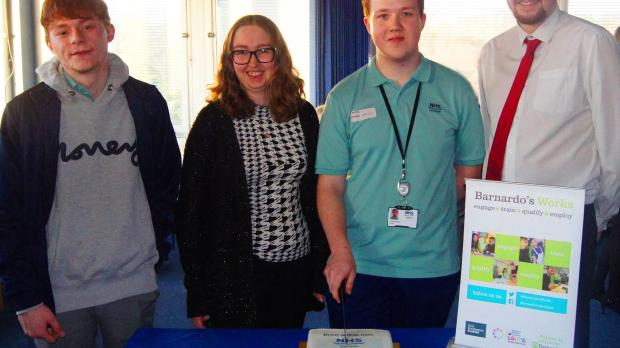 Young people attending B Works  Tayside 10th anniversary