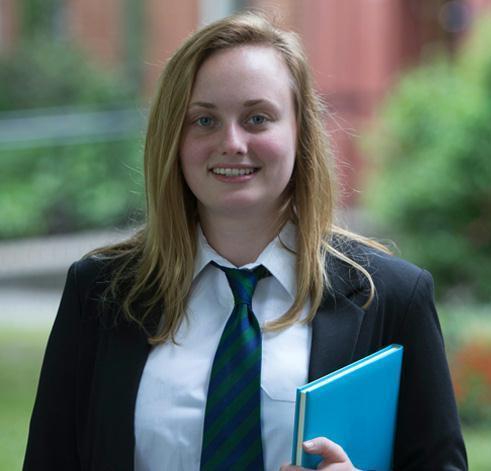 Young person in school uniform