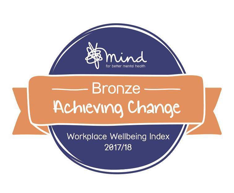 Mind Workplace Wellbeing Index Bronze award
