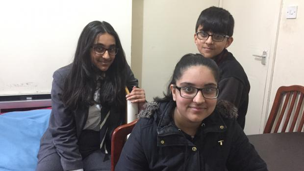 Three young carers