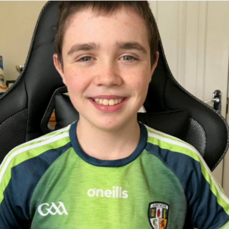 Fionn - a fundraising volunteer