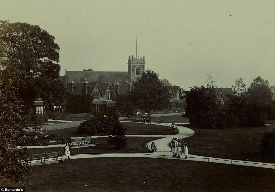Park with church in background - Barnardo's Girl's Village