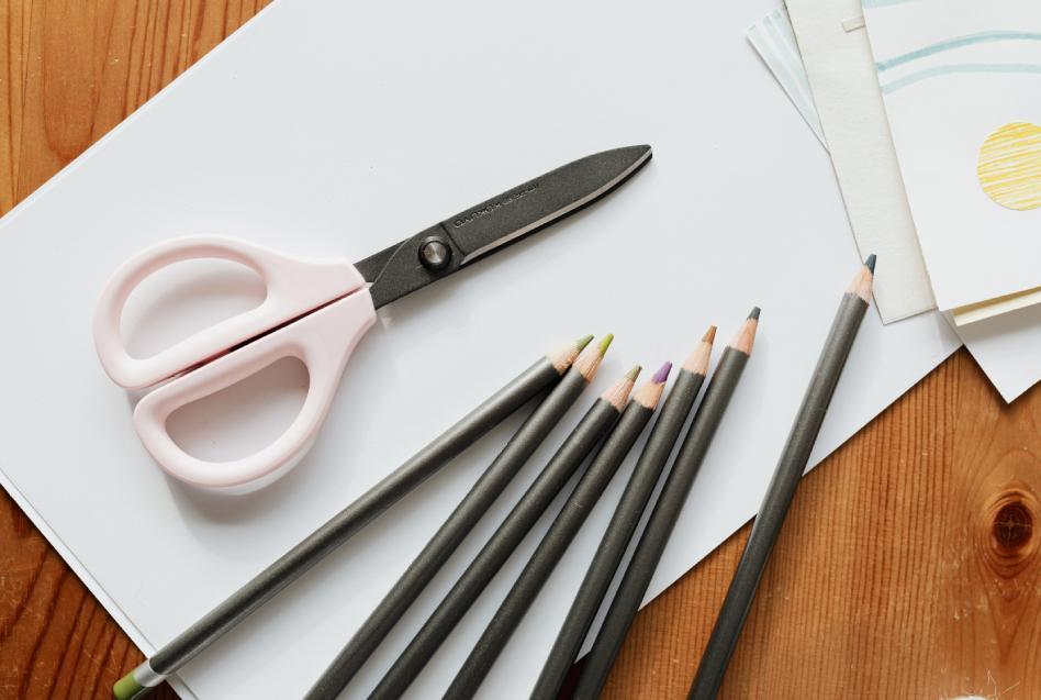 Scissors pencils paper