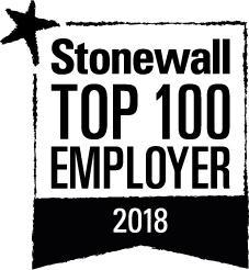 Stonewall Top 100 Employer 2018