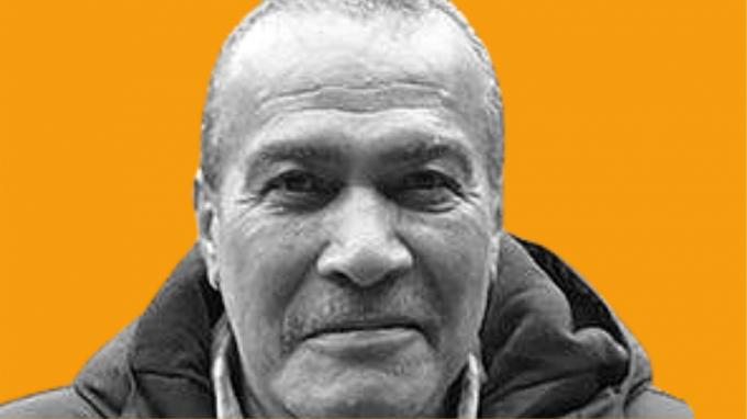 Winston Norton on an orange background